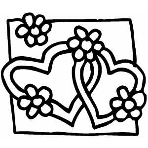 Coloring Pages With Flowers And Hearts : math coloring sheets : Coloring Pagesromantic Valentine Coloring Sheet Flowers