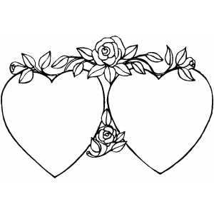 coloring pages of flowers and hearts coolage - Coloring Pages Flowers Hearts