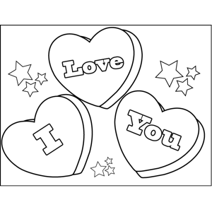 printable conversation hearts coloring pages - photo#12