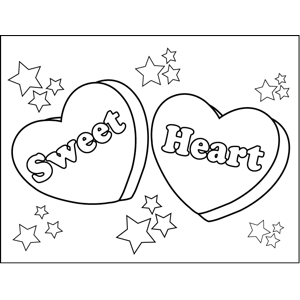 printable conversation hearts coloring pages - photo#21