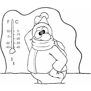 Cold boy coloring page coloring pages for Cold weather coloring pages