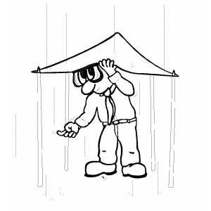 animal shelter coloring pages | Rain Shelter Coloring Page