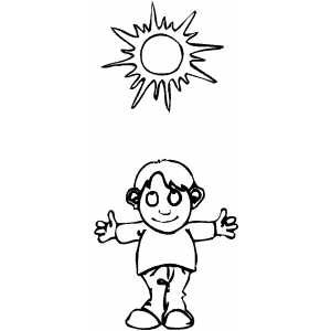 Sunny weather coloring page for Sunny weather coloring pages