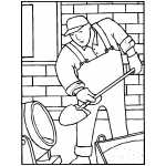cement mixer coloring pages - construction coloring pages