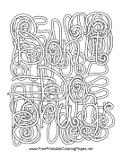 Hidden objects coloring pages for Anti drug coloring pages