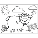 Long horn sheep coloring pages ~ On The Farm Coloring Pages