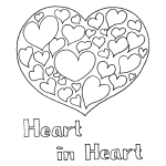 Cross and doves coloring page for Hearts and crosses coloring pages